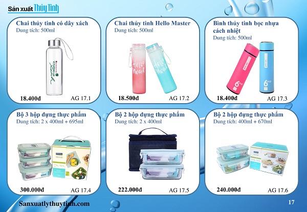 Catalogue quà tặng thủy tinh
