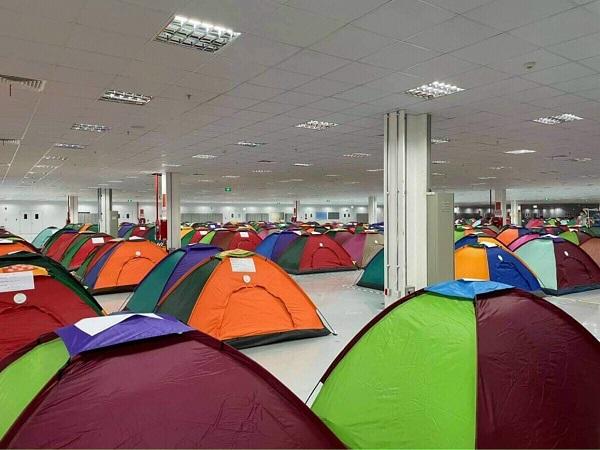 Báo giá Lều cấm trại, cách ly cho công nhân, lều chống dịch Covid 19 tại tphcm